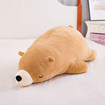 Amazon.com: Muñeca de peluche de oso polar con cuerpo suave ...