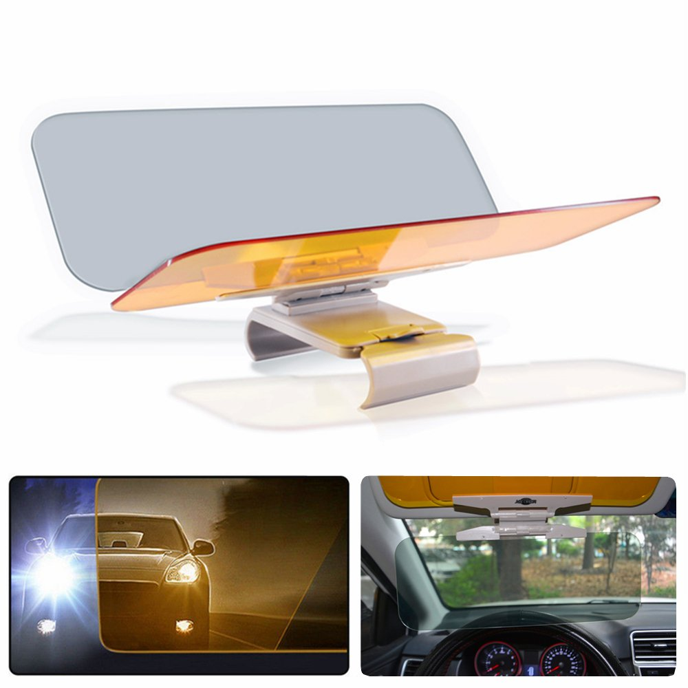 Car Sun Visor Extension, Car Anti Glare Driving HD Visor, MONOJOY Day and Night Vision Eye Protector Anti-Glare Anti-UV Anti-Dazzle Windshield Extender (1 Pack) GKmall gk020601