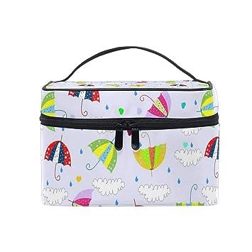 16ea78e18a40 Travel Makeup Cosmetic Bags Drops Raining Umbrellas With Cloud ...