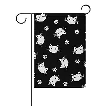 Lafle Bandera de jardín de poliéster con diseño de Gatos ...