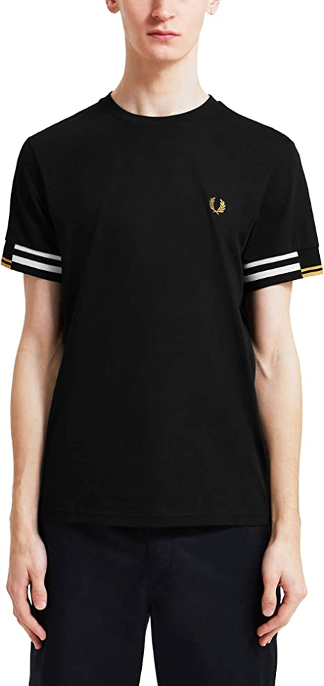 Fred Perry Abstract Cuff T Shirt, Camiseta: Amazon.es: Ropa y accesorios