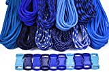 BoredParacord Brand Paracord Starter Kit - Blues Combo Kit