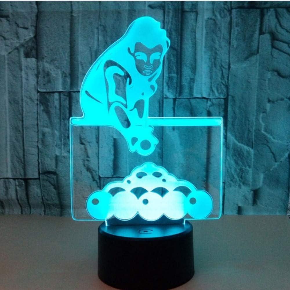 Luz Escritorio Micro 7 Colores Usb 3D Touch Led Night Lights ...