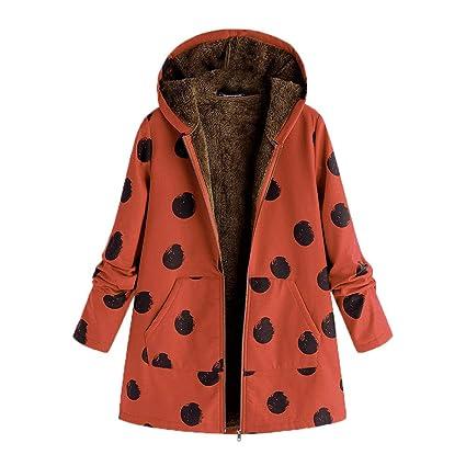 Luckycat Abrigo Invierno Mujer Chaqueta Suéter Jersey Mujer Cardigan Mujer Tallas Grandes Outwear Floral Bolsillos con Capucha de Impresión Caliente ...