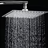 "12"" Rainfall Shower Head,Toogou Ultra-thin Stainless Steel & High Polish Chrome,Luxury Durable Rain Showerhead,Rain Style & Waterfall Effect - Enjoy a Invigorating Spa-like shower"