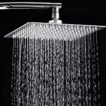 "12"" Rainfall Shower Head,Toogou Ultra-thin Stainless Steel & High Polish Chrome,Luxury Durable Rain Showerhead,Rain Style & Waterfall Effect - Enjoy a Invigorating Spa-like shower"