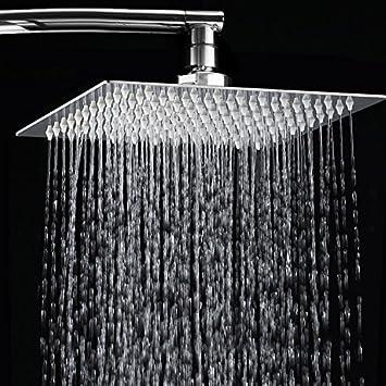 12 Quot  Rainfall Shower Head Toogou Ultra Thin Stainless Steel High Polish Chrome