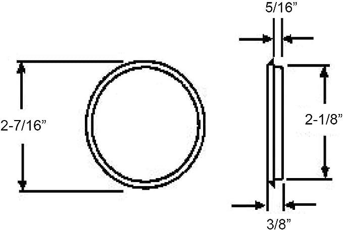 Prime-Line N 7211 Door Finger Pull 2-1//8 in Dia 5//16 in D