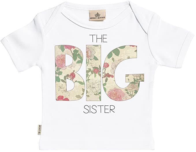 Amazon.com: SR – The Big Sister orgánico manga corta bebé ...