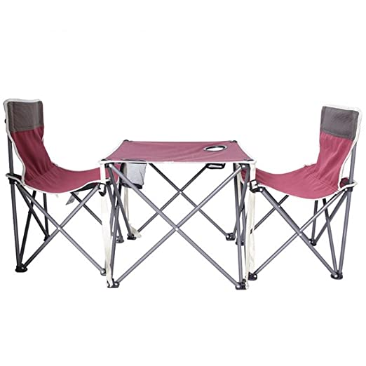 Conjuntos de sillas y mesas de playa plegables al aire libre Silla ...