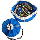 Swoop Mini Portable Toy Storage Bag - Ideal for Legos - Blue