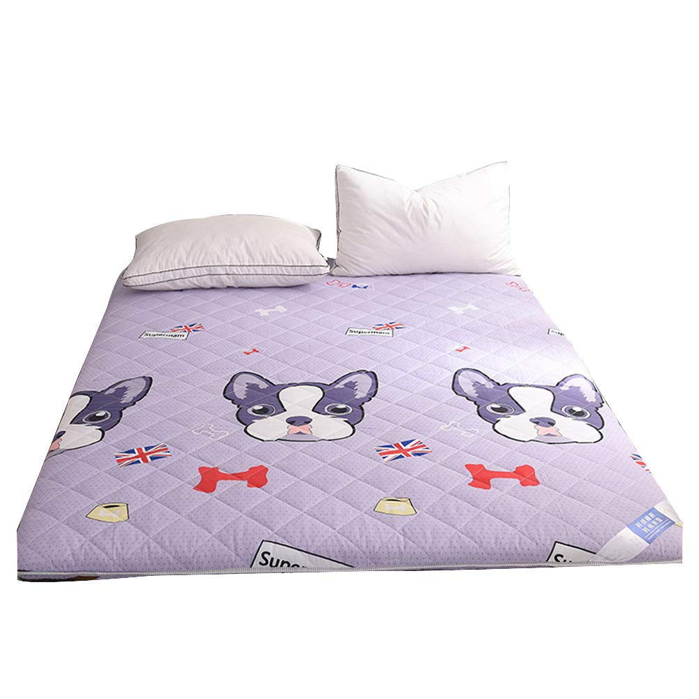 B 90x200cm Thicken Folding Tatami Floor Mattress, Double-Sided Quilted Futon Mattresses Dormitory Bedroom Cartoon Printed Bed Mattress - A 180x200 cm (71x78 Inch),A,180x200cm