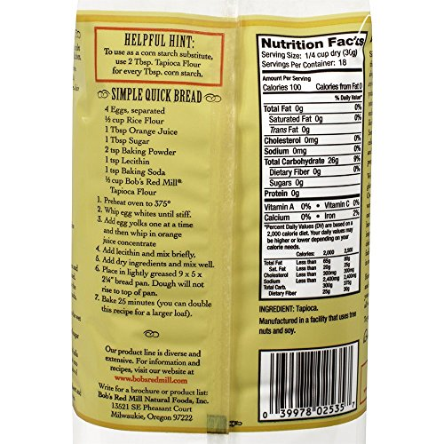 Amazon.com : Bob's Red Mill Tapioca Flour, 20 Ounce : Millet Flours : Grocery & Gourmet Food