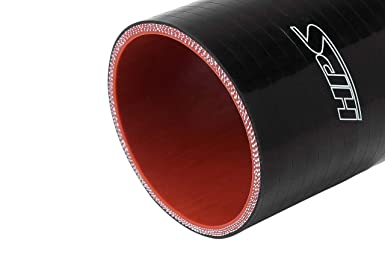 Black 350F Max HPS 1 ID SC-8512-BLK Silicone 100 Psi Max Temperature High Temp 4-Ply Reinforced 3 Length Pressure Silicone Coupler Hose