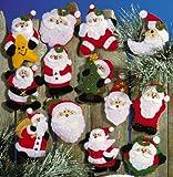 Tobin DW5351 Lots of Santa's Ornaments Felt Applique Kit, 3-Inch by 4-Inch, Set of 13