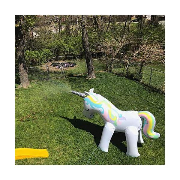 Zoostliss Unicorn Sprinkler Inflatable Water Spray Toys Giant Yard Backyard Lawn Unicorn Sprinkler Kids Outdoor Party… 7