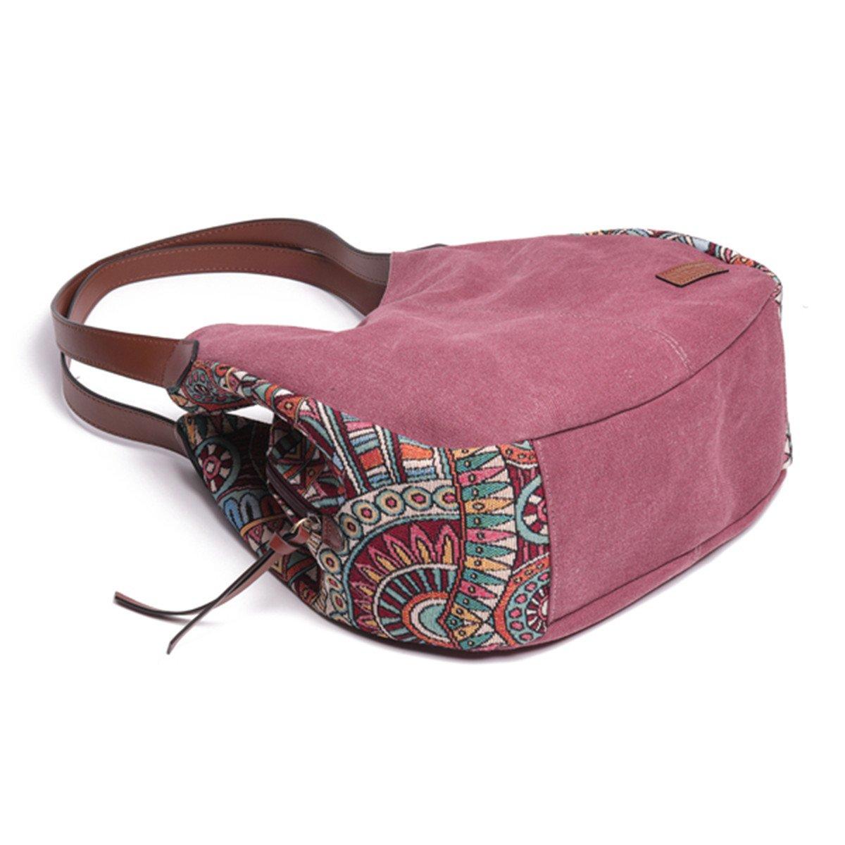 Bernice Bohemia Sacs port/és /épaule Sac /à bandouli/ère pour les femmes grande capacit/é toile Floral sac /à main Totes sacs /à main