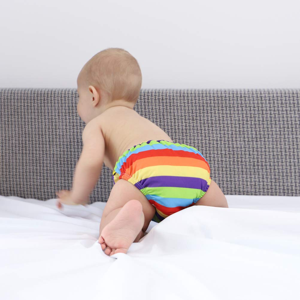 Free Swimming Baby Reusable Absorbent Swim Diaper Four Size for Your Choice