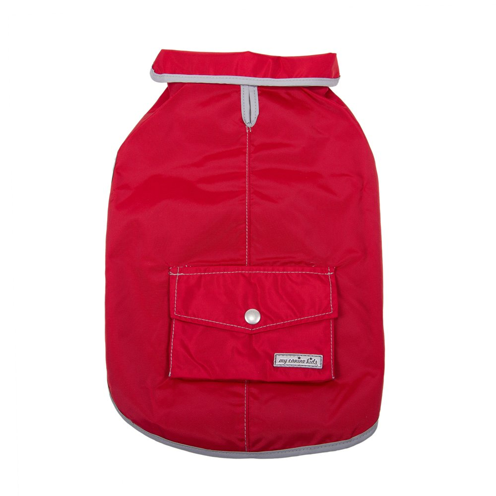 My Canine Kids Precision Fit Rain Slicker Large-red by My Canine Kids (Image #3)