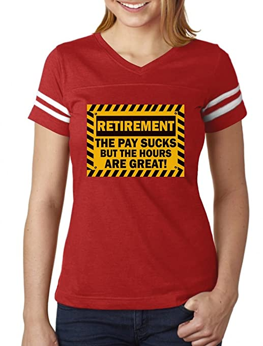 Amazon.com  TeeStars - Funny Retirement Gift Idea - Retired Women Football  Jersey T-Shirt  Clothing cc4daabb8