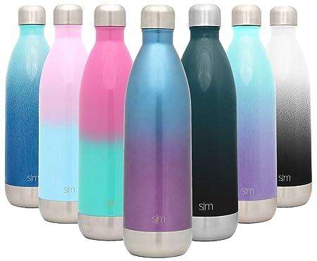 Simple Modern Wave 1000ml Termo Botella de Agua Acero Inoxidable, Botella termica sin BPA Mantiene el Temperatura Aislada al Vacío Doble Pared para ...