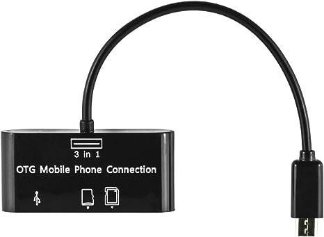 OTG USB Adaptador SD Lector de Tarjeta Micro SD Card Reader para ...