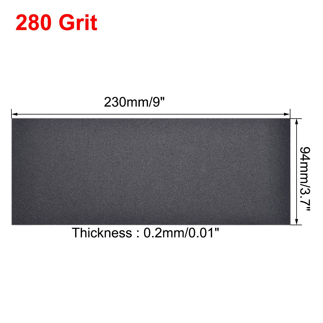 uxcell 400 Grits Sanding Sheets 9-inch x 3.6-inch Wet Dry Silicon Carbide Sandpaper for Wood Furniture Metal Automotive Polishing 10pcs