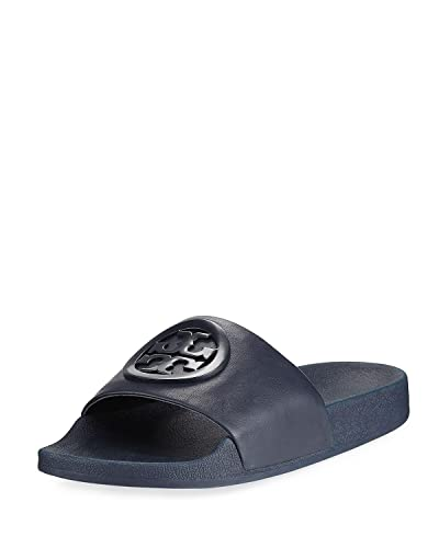 f1787ae52f3f Tory Burch Lina Navy Slides (10 M US)