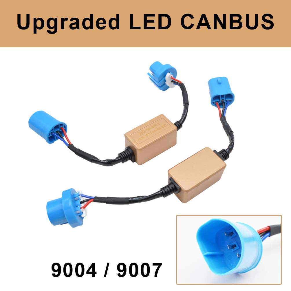 H1 H3 Canbus Resistor Computer Warning Canceller Anti Flicker Error Free Wiring Harness Adapter for LED Headlight Bulb Taitian Direct