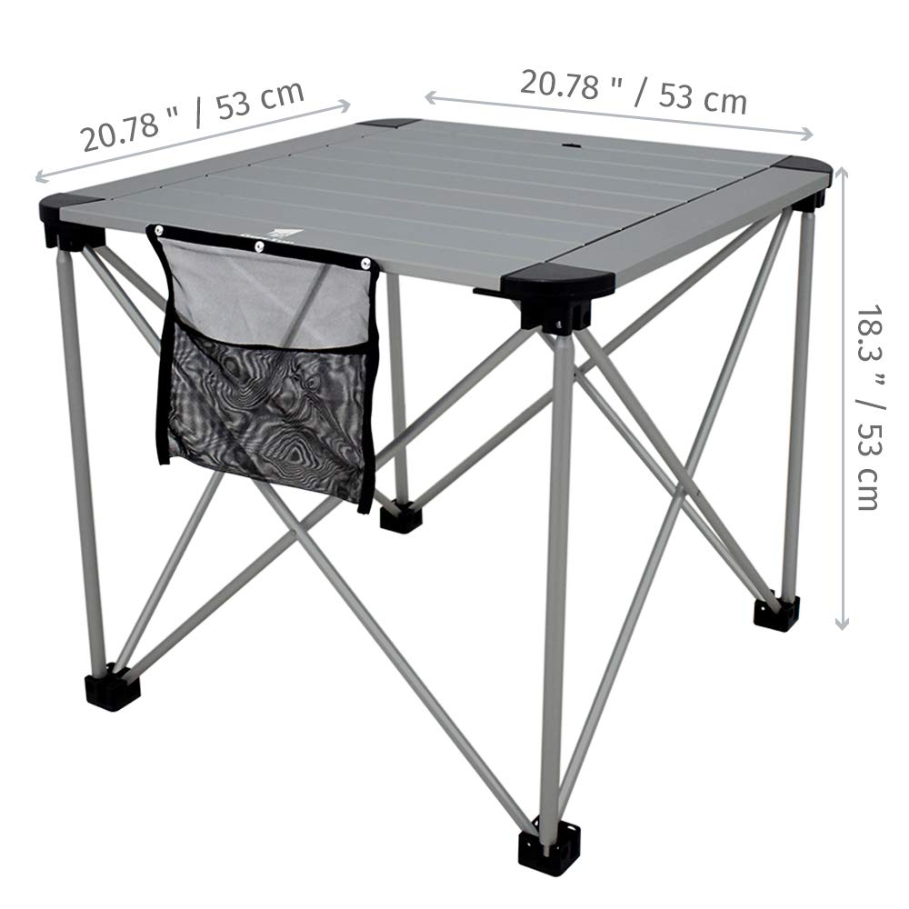 6848a789392 Camp Easy to Clean Outdoor Kitchen Dining   Cooking Geertop Portable Folding  Camping Table Roll Up Aluminum Picnic Table Top Small ...