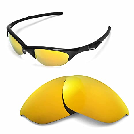 f71c65aff4e Walleva Replacement Lenses for Oakley Half Jacket Sunglasses - Multiple  Options Available (24K Gold Mirror
