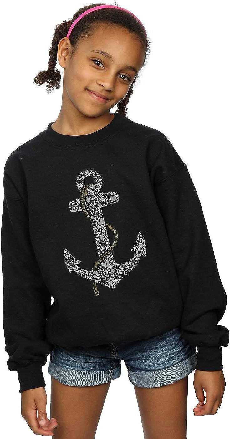 Drewbacca Girls Pirate Anchor Sweatshirt