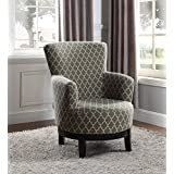 NHI Express 90023-27 London Swivel Accent Chair, Regular