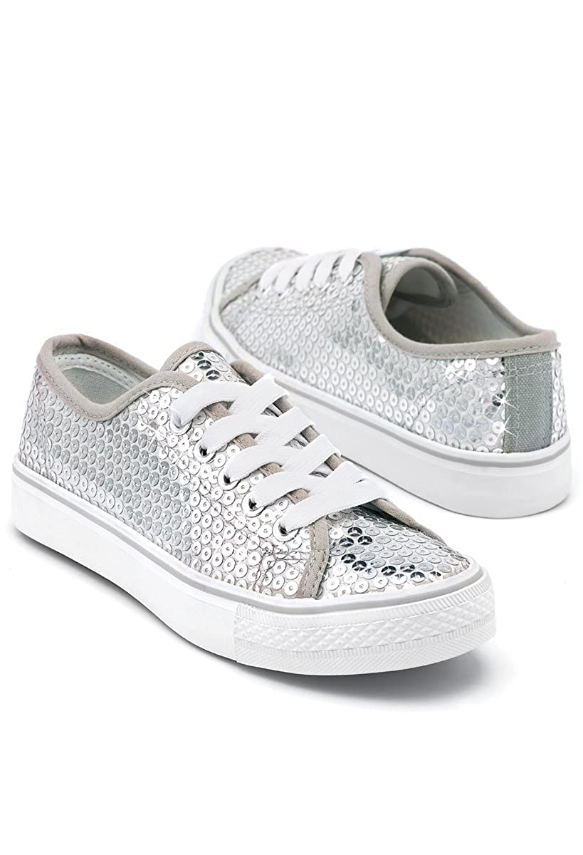 Balera Sequin Low Top Dance Sneakers Silver 11CM WL6033-0094236