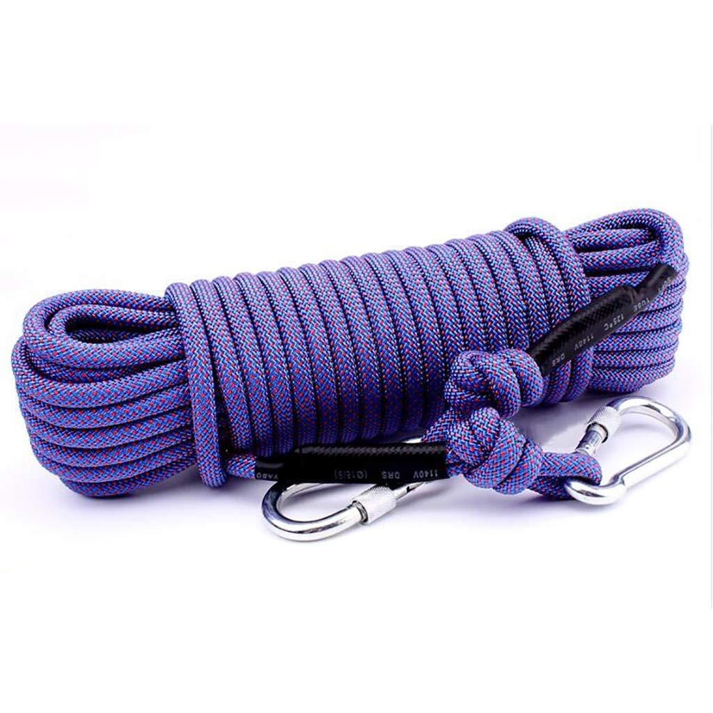B ZPWSNH Corde d'escalade Corde électrostatique diamètre 10.5mm Longueur 10 15 20 25 30 40 50   60m Rouge Violet Corde d'escalade (Couleur   B, Taille   30m) 30m