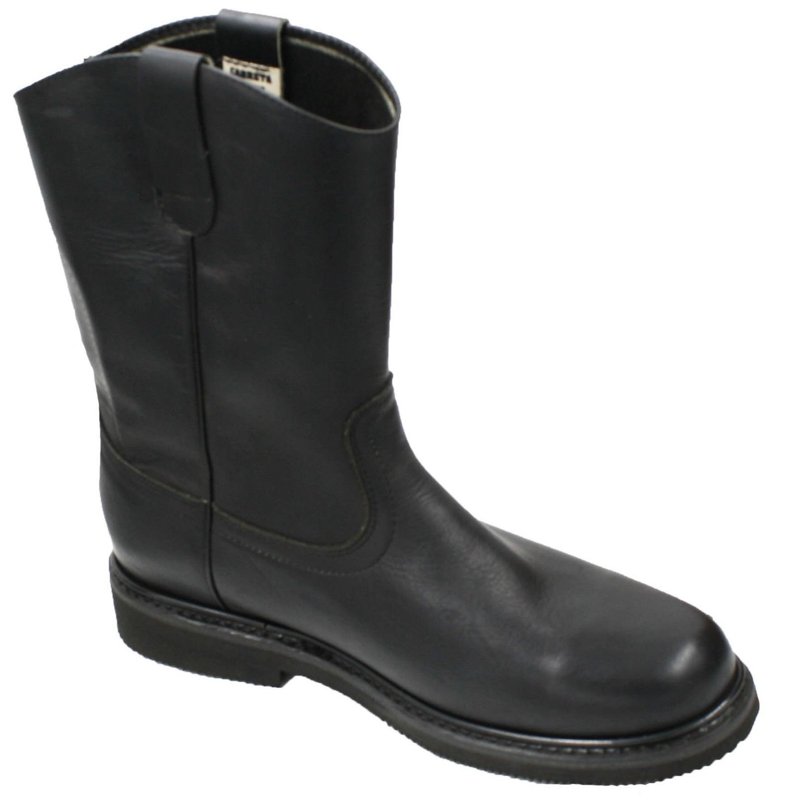 Dona Michi Men's Work Boots Pull On Leather Oil Water Slip Resistant Black 8.5
