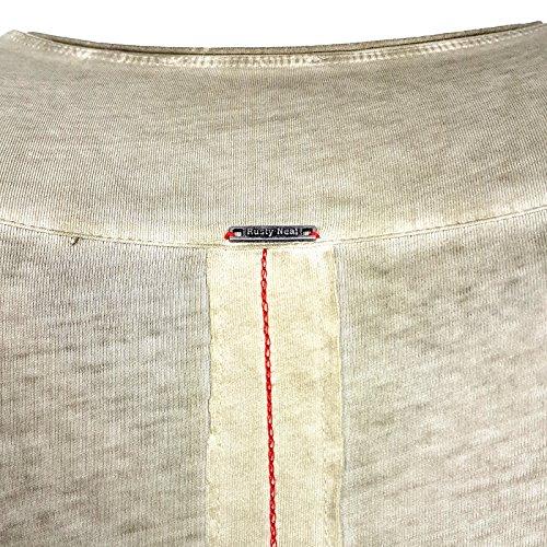 HERREN T-Shirts TShirt NEU Größe S M L M XL XXL RUNDHALS KURZARM Regular RN15045, Größe:XL, Farbe:Khaki