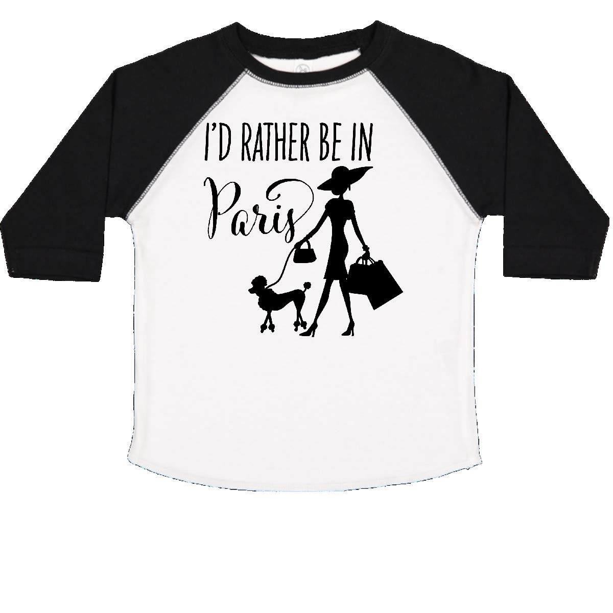 inktastic Id Rather Be in Paris Shopping and Travel Toddler T-Shirt
