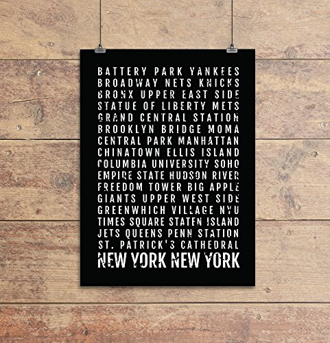New York City Print - Neighborhoods - Subway Sign Poster,