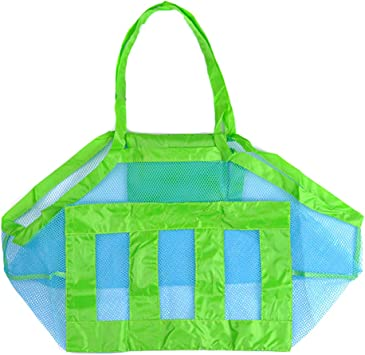 Amazon.com: Bolsa de malla plegable para guardar juguetes de ...