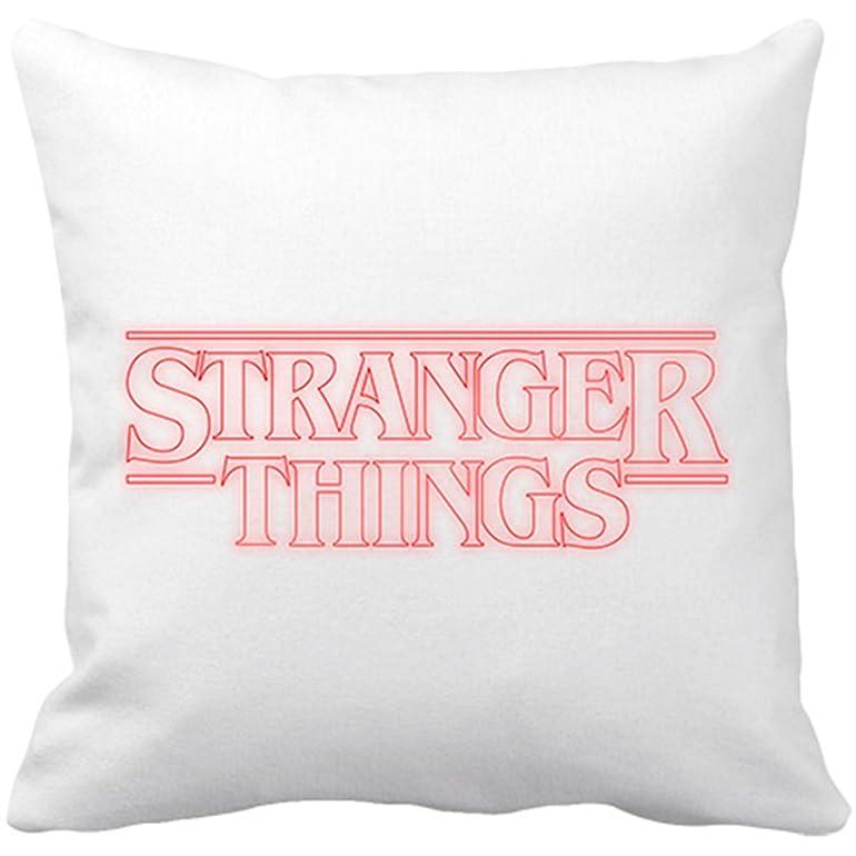 Cojín con relleno Stranger Things logo - Blanco, 35 x 35 cm