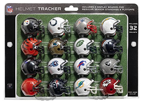 NFL Pro Football Helmet Playoff Tracker -