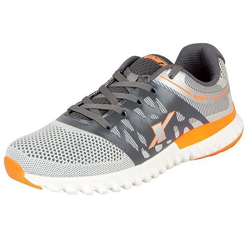 Sparx Men's Grey Orange Running Shoes