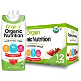 Orgain Organic Nutritional Shake, Strawberries & Cream - Meal Replacement, 16g Protein, 21 Vitamins & Minerals, Gluten Free, Soy Free, Kosher, Non-GMO, 11 Ounce - Pack of 12 (Packaging May Vary)