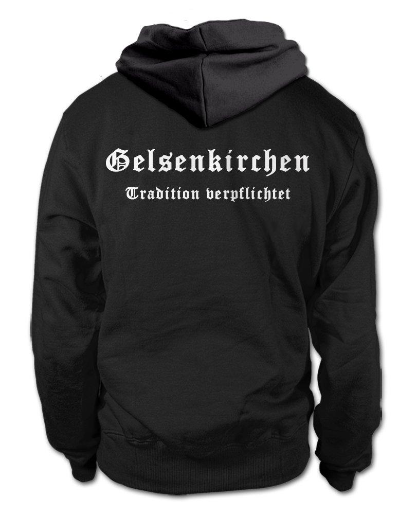 shirtloge Gr/ö/ße S Gelsenkirchen Fan Kapuzenpullover Tradition verpflichtet 3XL
