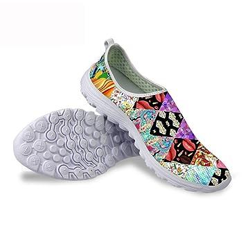 Piup Zapatos de Malla Transpirables para Mujer, diseño de Perro y Gato, livianos: Amazon.es: Deportes y aire libre