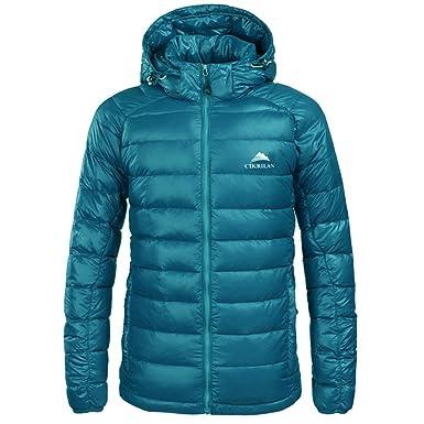emansmoer Mens Lightweight Puffer Duck Down Jacket Windproof Water Resistant Outdoor Sport Camping Hiking Jacket Coat