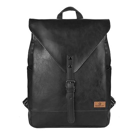 c85d66106e Koolertron Zaino Classica Casual Cuoio Unisex Scuola Laptop per Acer Aspire  MacBook iPhone iPad and Samsung