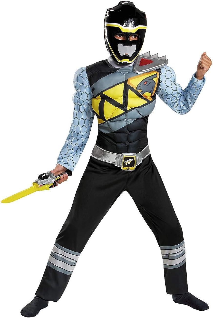 Black Power Ranger Dino Charge Classic Muscle Disfraz Para Niños ...