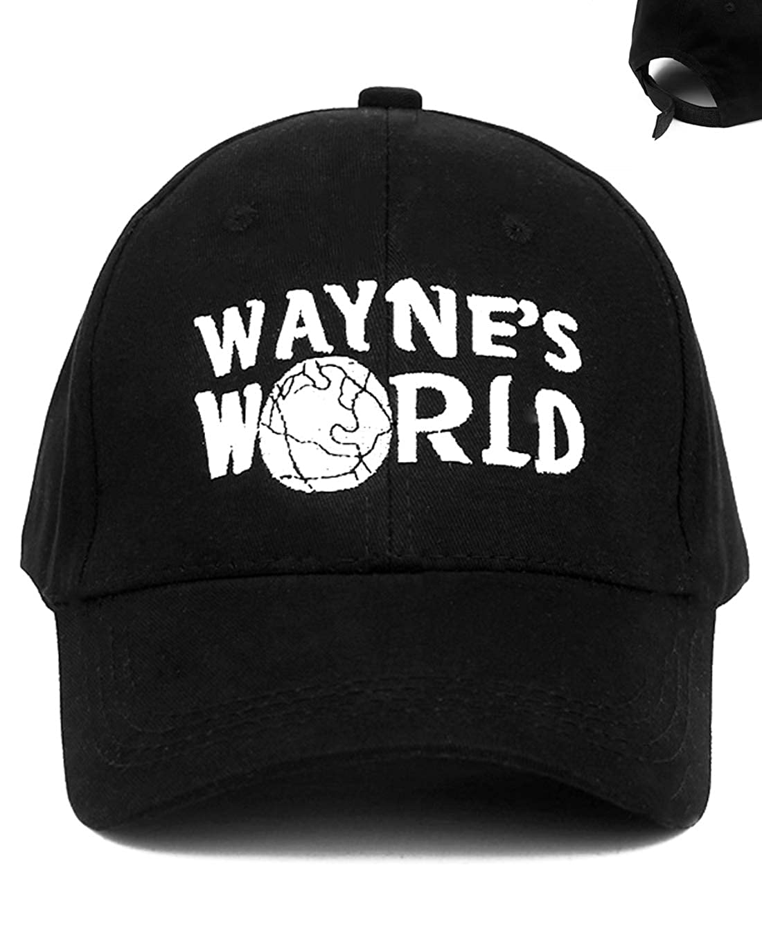 Fudirect Store Wayne's World Hat, Trucker Embroidered Costume Baseball Hat Cap Adjustable Black for Women, Men, Child and Youth(Cotton)